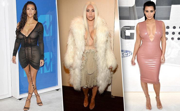 Платье из латекса и еще 10 образов Ким Кардашьян, которые войдут в историю