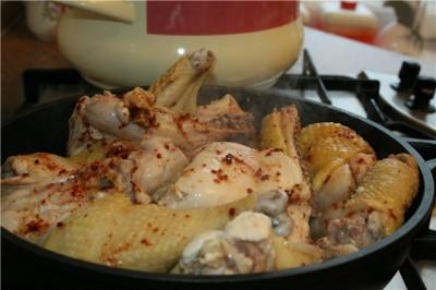 Гедлибже (курица в сметане по-кабардински)