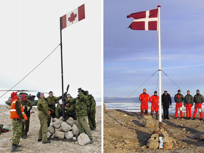 Датский и канадский десанты на острове.