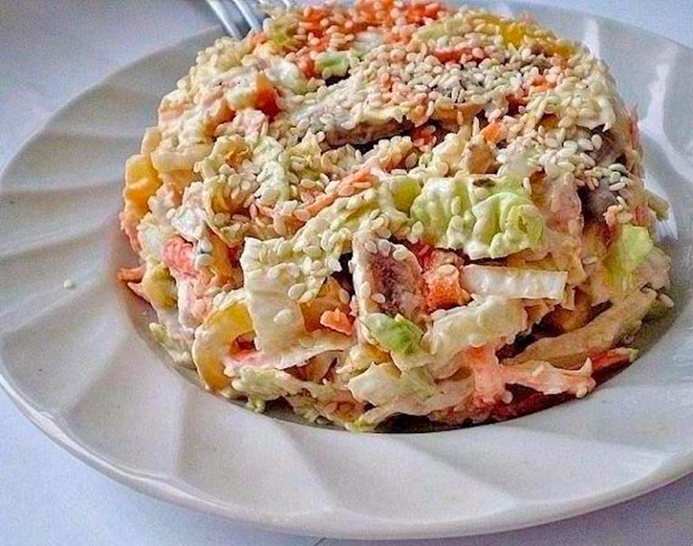 Салат с пекинской капустой «…