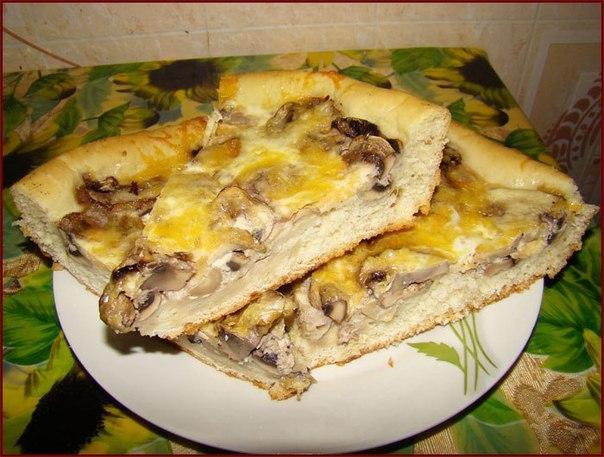 Грибная пицца-пирог — потрясающе вкусно!