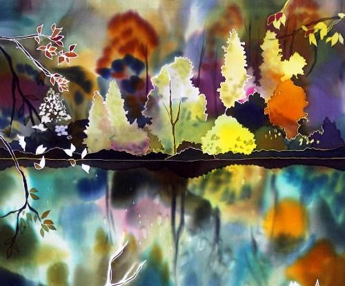 Блистательная живопись по шелку(батик) от Наташи Фуко (Natasha Foucault)