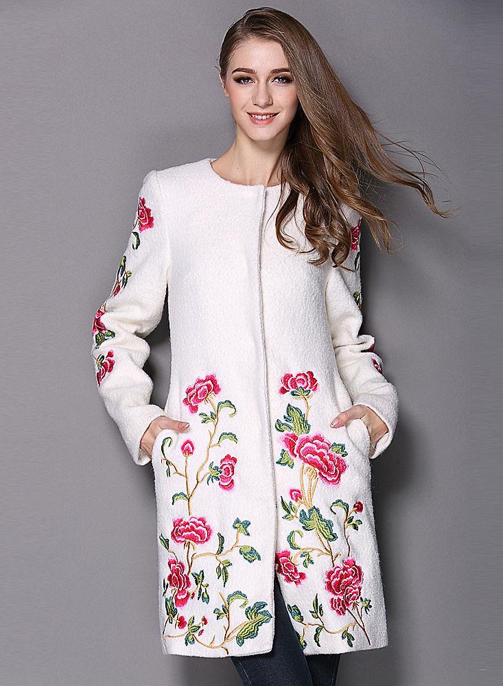 Охота за красотой: пальто с декоративной вышивкой и интересными вариантами отделки