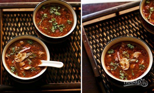 ДЕНЬ ПЕРВОГО БЛЮДА. Острый вегетарианский суп