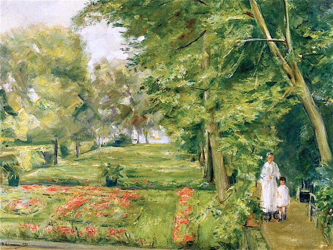The Artist's Granddaughter with the Governess in the Wannsee Garden. 1923 (666x500, 511Kb)