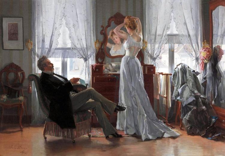 Художник Jean de la Hoese (1846 – 1917). Портретист и жанровый живописец