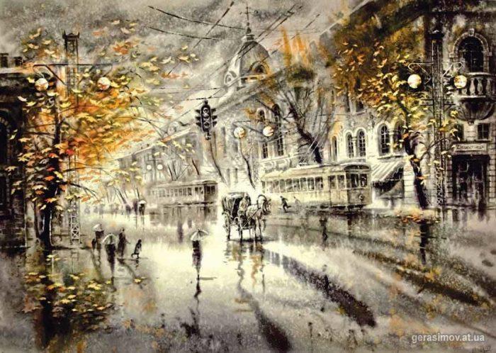 Просто невероятные черно-белые акварели Леонида Герасимова