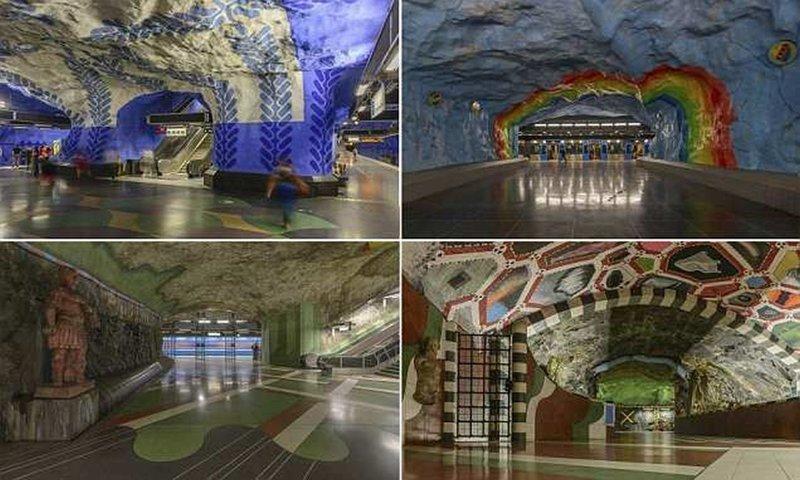 Осторожно, двери закрываются: следующая станция - Стокгольм галерея, метро, метрополитен, метрополитены мира, подземка, стокгольм, художественная выставка, швеция