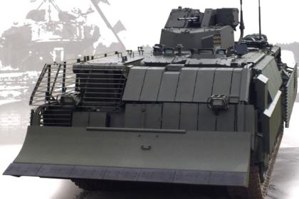 Опубликовано фото перспективной инженерной машины на базе танка «Армата»