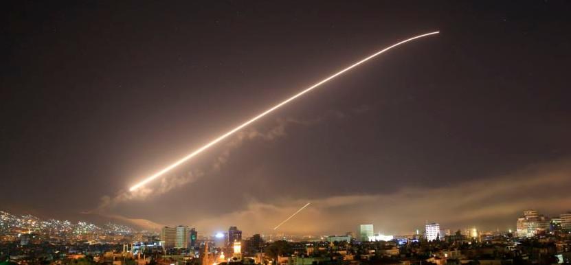 США нанесли удары по Сирии видео