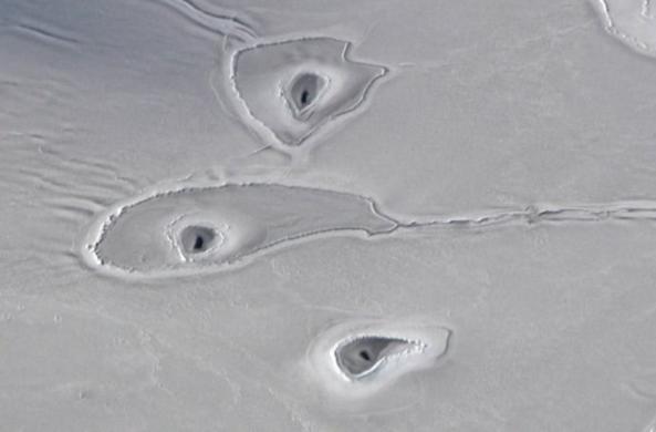 Ученые обнаружили таинственные дыры во льдах Арктики