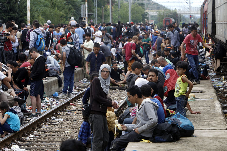 Мигранты Германии напали на …