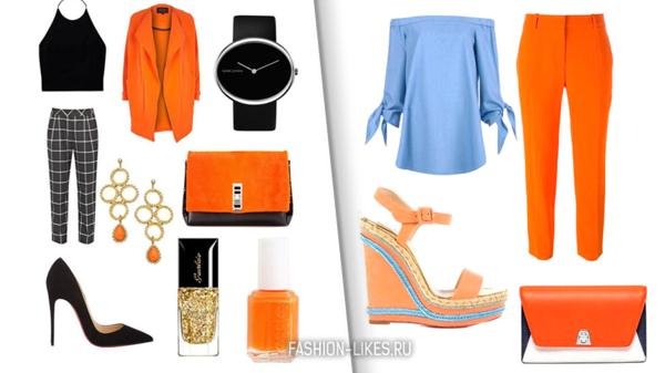 9 самых эффектных образов в оранжевом цвете