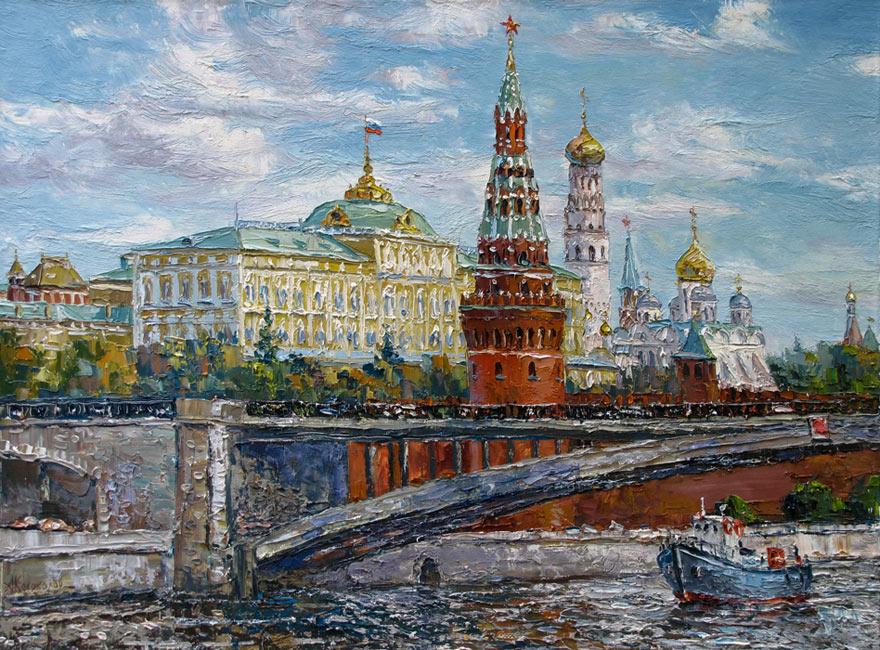 художник  Колоколов Антон,  Вид Кремля