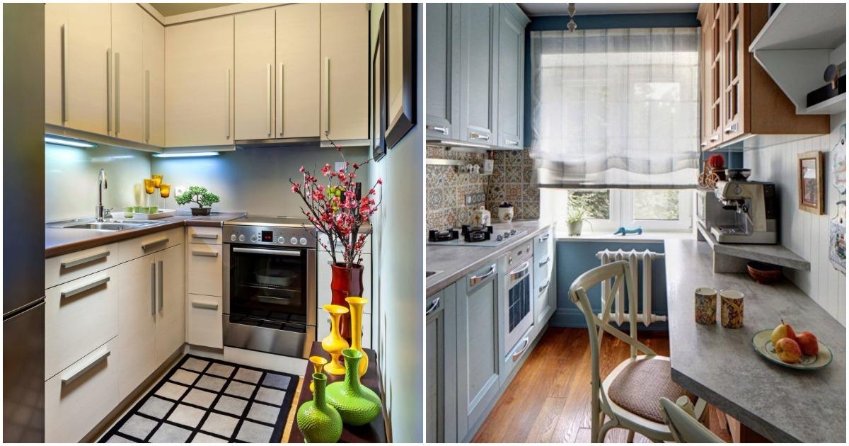 Как соединить стиль и функциональность в маленькой кухне? Современные фото идеи