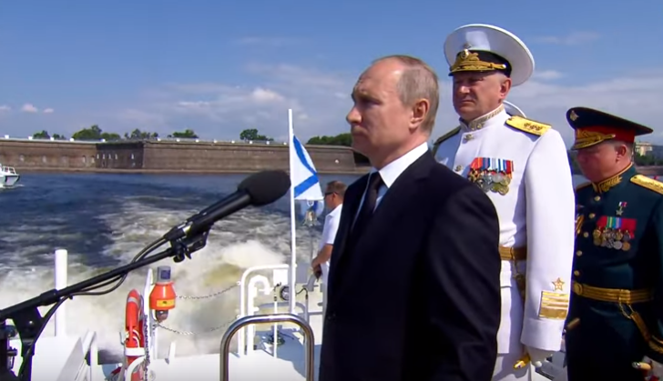 Адмирал Касатонов прокомментировал участие Путина в военно-морском параде в честь Дня ВМФ
