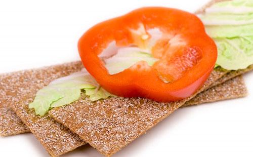 Хлебцы с овощами