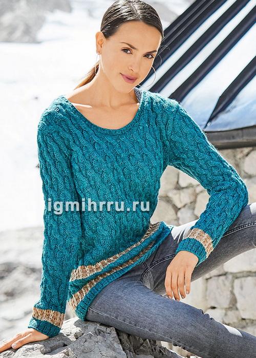 Шерстяной пуловер и нежная ш…