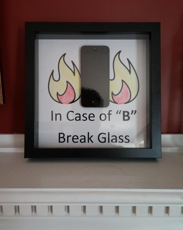 При четверке - разбить стекло