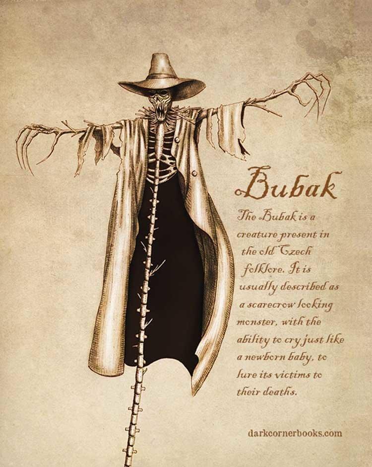 1. Бубак (Bubak) жуть, иллюстрация, мифические существа, рисунок