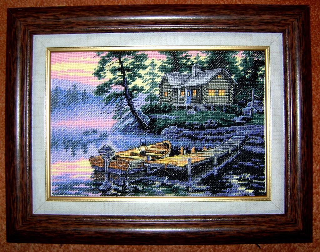 Схема вышивки утро на озере 53