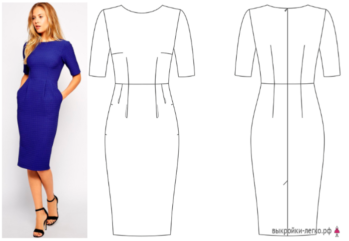 Классическое платье и схемы