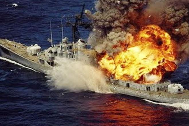 Подводная лодка в деле: демонстрация торпедной атаки