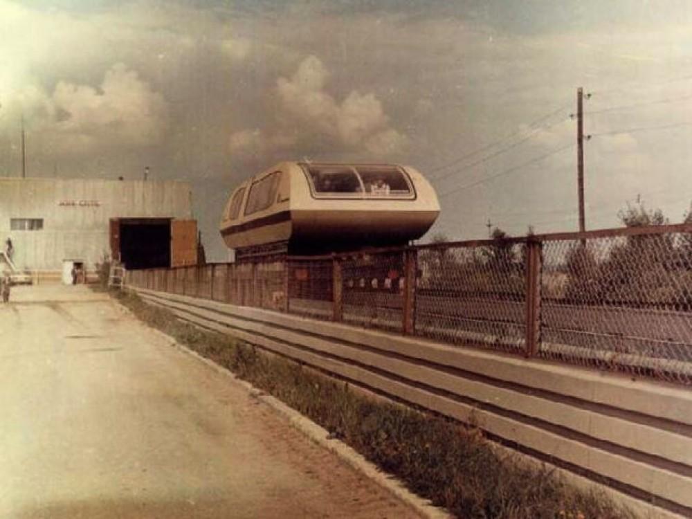 Первые магнитопаезда были сделаны в СССР ещё 1986 году