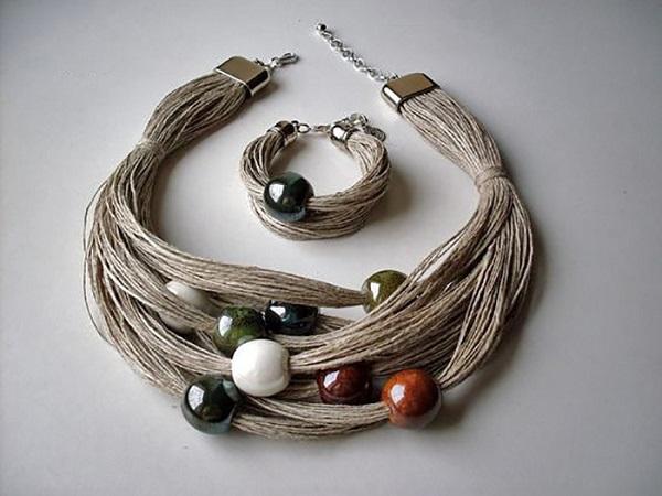 украшения из карамельных нитей