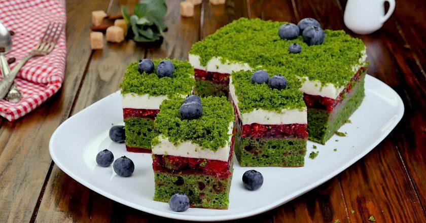 Как приготовить торт «Лесной мох» со шпинатом