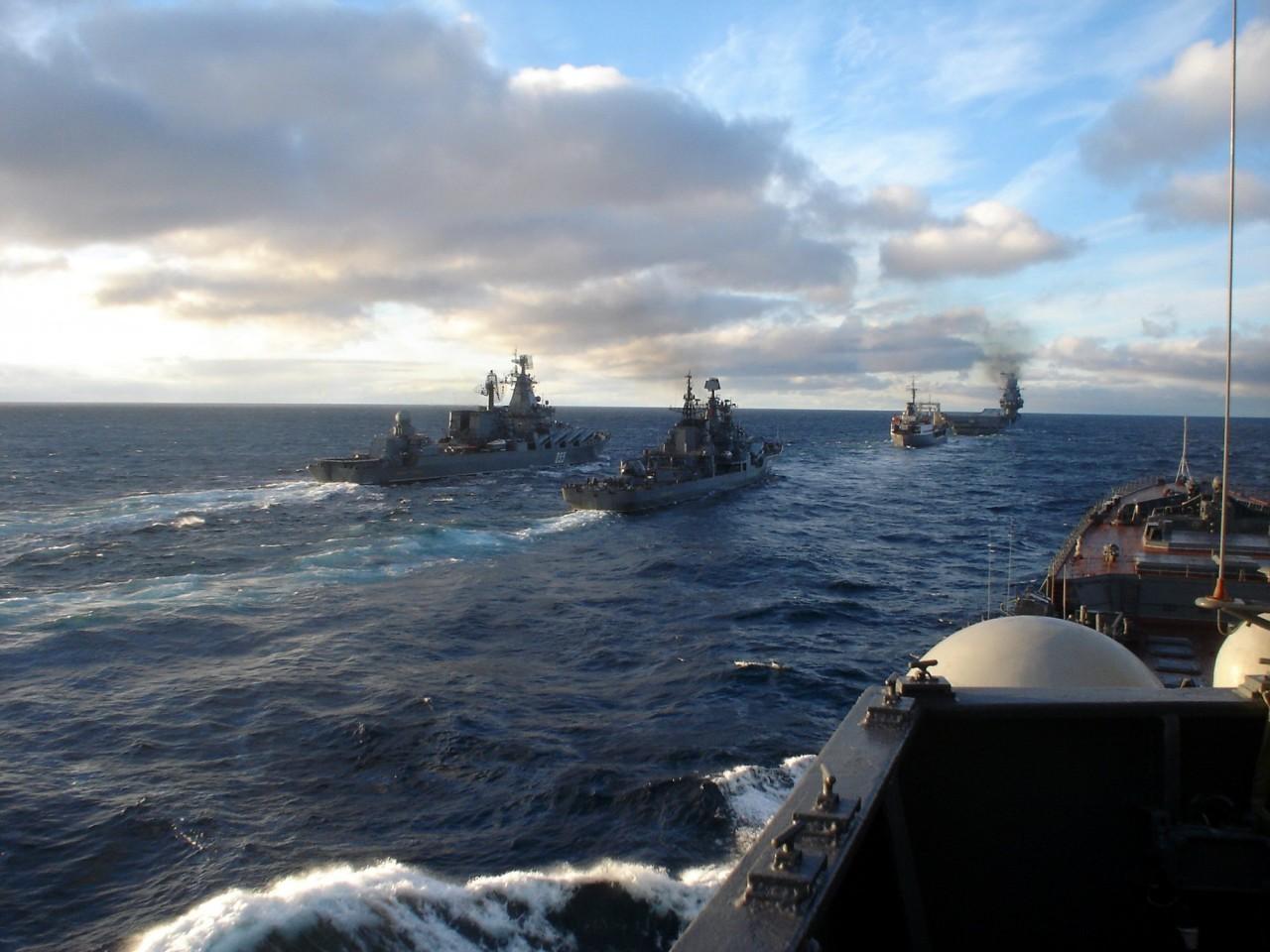 В сирийском конфликте была задействована самая мощная группировка кораблей ВМФ РФ