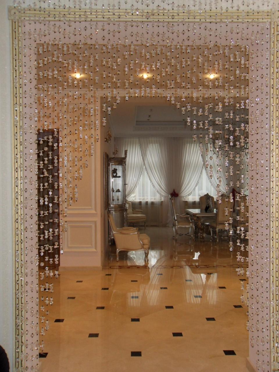 Как сделать стеклянные шторы бусины