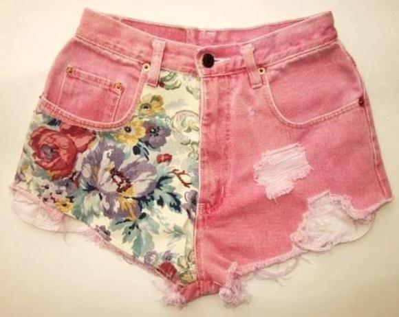 Декорируем джинсовые шорты