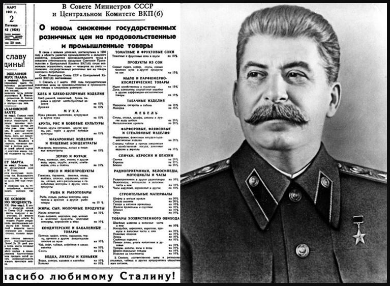 Сталинская экономика СССР. Сталинское снижение цен. Расширение внутреннего рынка.