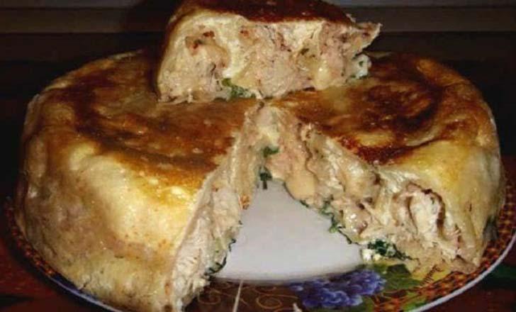 Рецепт вкусного куриного пирога