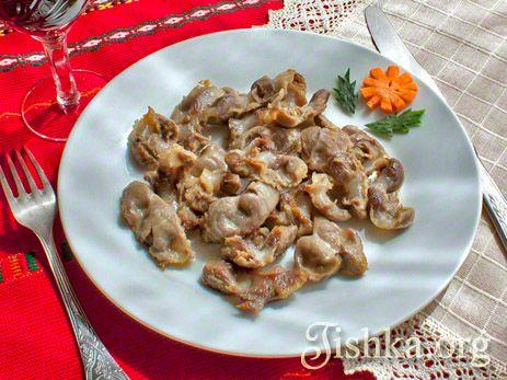 Куриные желудки в сливочном масле рецепт с фото