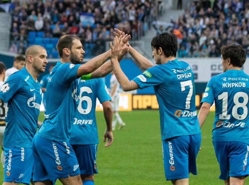 «Зенит» побеждает «Уфа» и отрывается от «Краснодара» на шесть очков