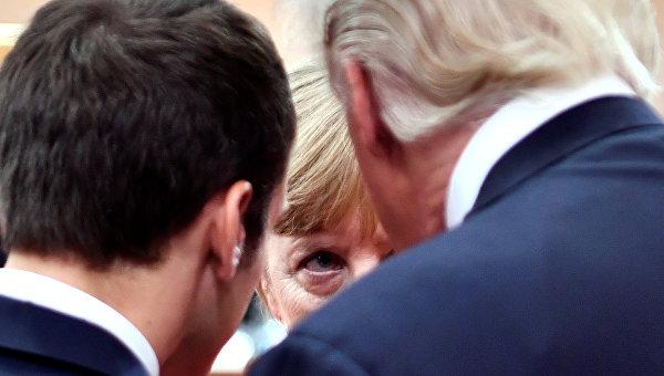 Трамп дал понять Меркель и Макрону, что влияние Европы падает