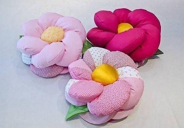Подушки цветы своим руками 97