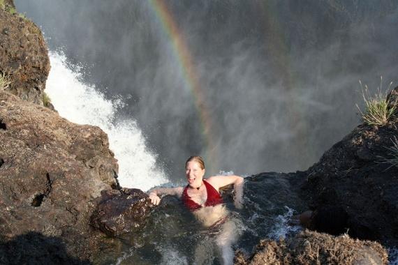 В поисках адреналина: Купель Дьявола на водопаде Виктория