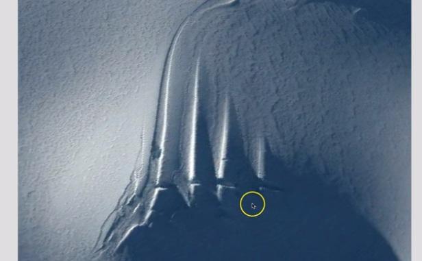 Необычные структуры обнаружили в Антарктиде