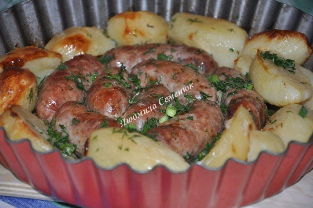 Домашние колбаски, запеченны…