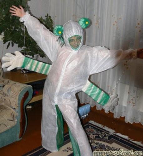 Как сделать костюм инопланетянина своими руками в домашних условиях
