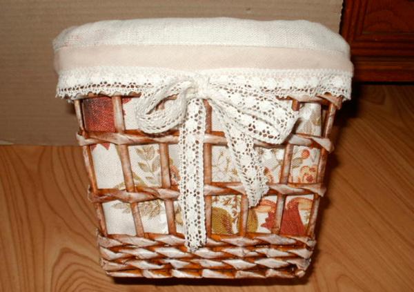Плетение из бумаги. Фото