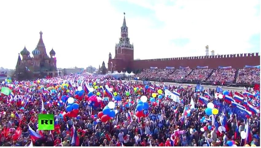 В Москве проходит первомайская демонстрация