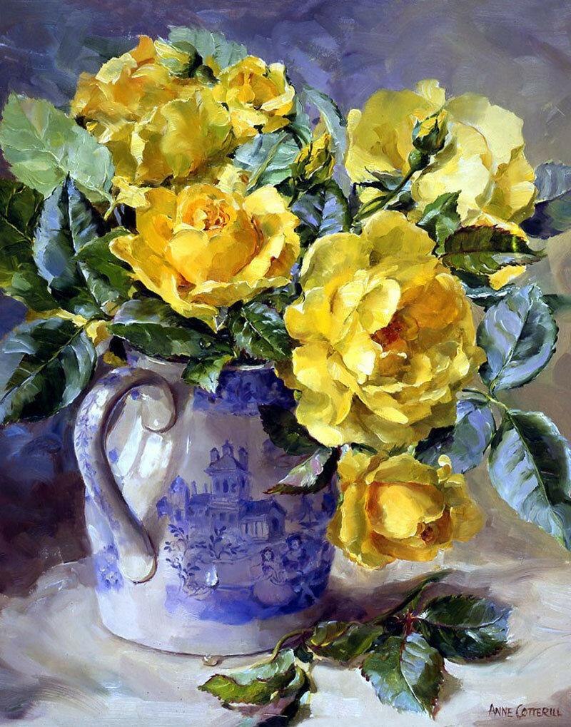 Чтобы яснее была видна душа цветов — роскошные цветочные натюрморты Анны Коттерилл