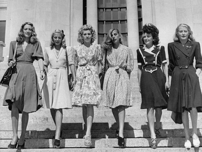История моды: что советовали носить девушкам в 40-е годы