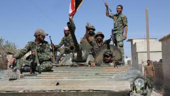 Внезапная атака САА и ВКС в Сирии, американцы не успели подняться в воздух