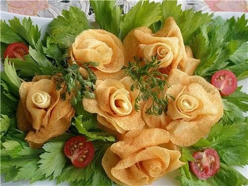 «Розы» из картофеля: мастер-класс