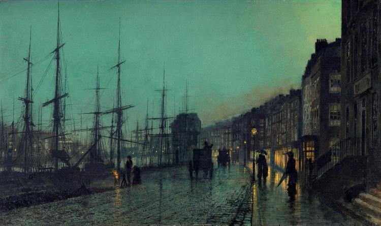 Художник John Atkinson Grimshaw (1836 – 1893). Мастер лунного света